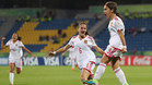 La selecci�n espa�ola femenina sub-17, en el triunfo ante Venezuela