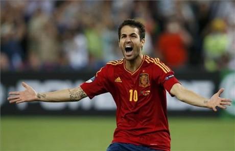 Cesc Fàbregas celebró así el decisivo gol