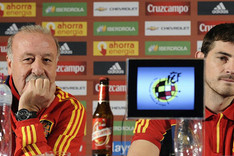 Del Bosque volvi� a arropar a Casillas
