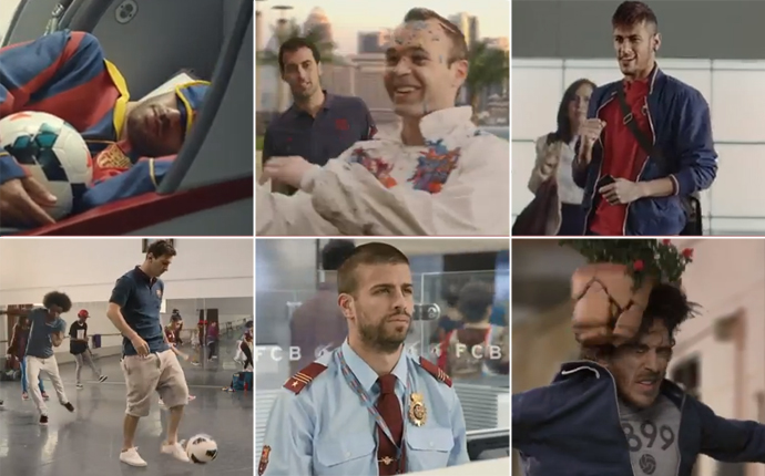 Brand New: Barcelona advert with Qatar Airways ft. Pique, Neymar, Messi, Puyol & Gary Lineker