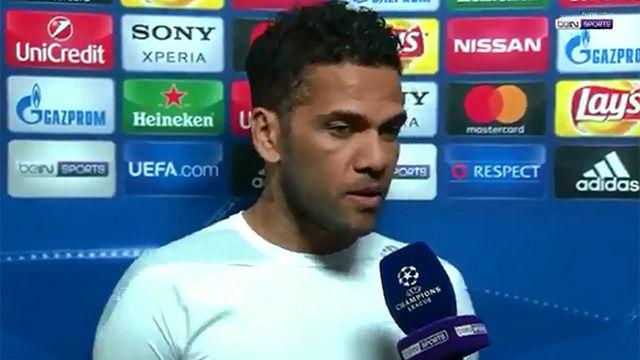 Las declaraciones de Alves tras eliminar al Barça