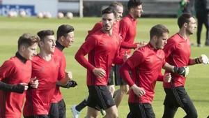 El entrenamiento del primer equipo de Osasuna