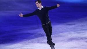 Javier Fernández, durante una actuación