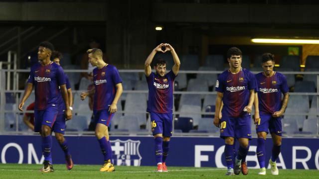LALIGA 123 | FC Barcelona B - Lorca (1-0): El golazo de Arnáiz ante el Lorca