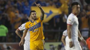 Gignac, celebrando su tanto en el triunfo ante Toluca