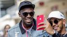 Bolt se hizo fotografías con Hamilton
