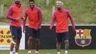 Messi, Su�rez y Turan tienen por delante una intensa semana de dobles sesiones de trabajo