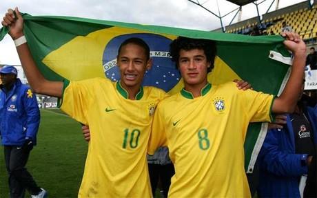 La selecci�n sub 16 de Brasil gan� el MIC 2008 con Neymar y Coutinho como grandes protagonistas
