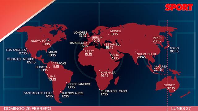 El horario del Atlético de Madrid - FC Barcelona