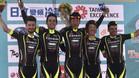 El equipo de Prades celebrando la victoria