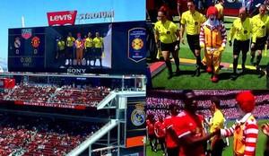 Ronald McDonald fue el protagonista del Real Madrid - Manchester United
