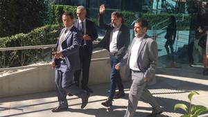 Guardiola trasladó su apoyo a Sánchez y Cuixart