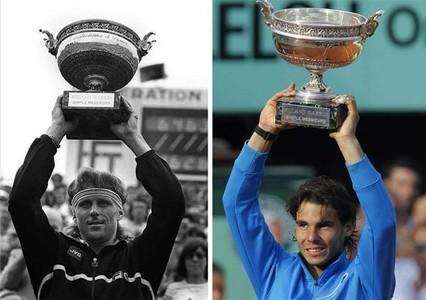 Bjorg y Nadal, dos mitos de Ronald Garros