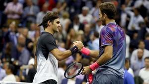 Del Potro ganó a Federer por 7-5, 3-6, 7-6 (8) y 6-4