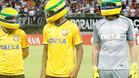Los jugadores del Corinthians saltaron al campo con un casco