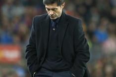 Marcelino durante la ida contra el FC Barcelona