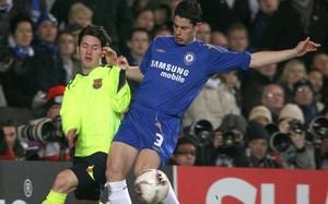 Messi y Del Horno, en el partido de 2006