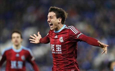 Oyarzabal se estren� ante el Espanyol