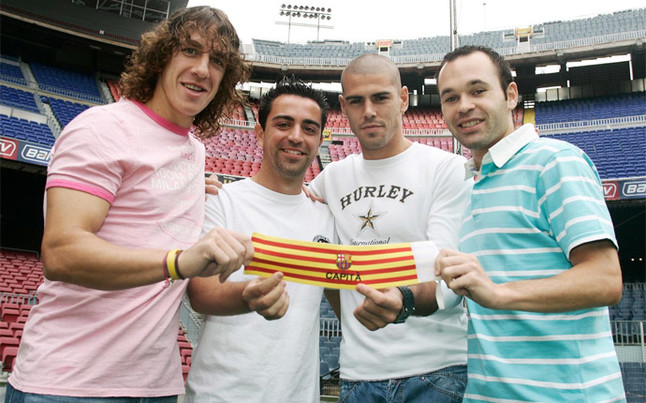 mesqueunclub.gr: Puyol, Valdes, Xavi and Iniesta: the end of the ...