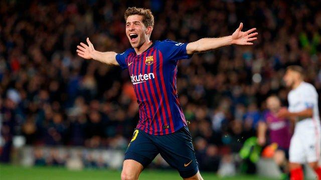 La alineación del FC Barcelona contra el Olympique de Lyon, Sergi Roberto jugará como interior