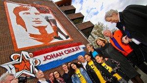 Así es el mural en honor a Johan Cruyff