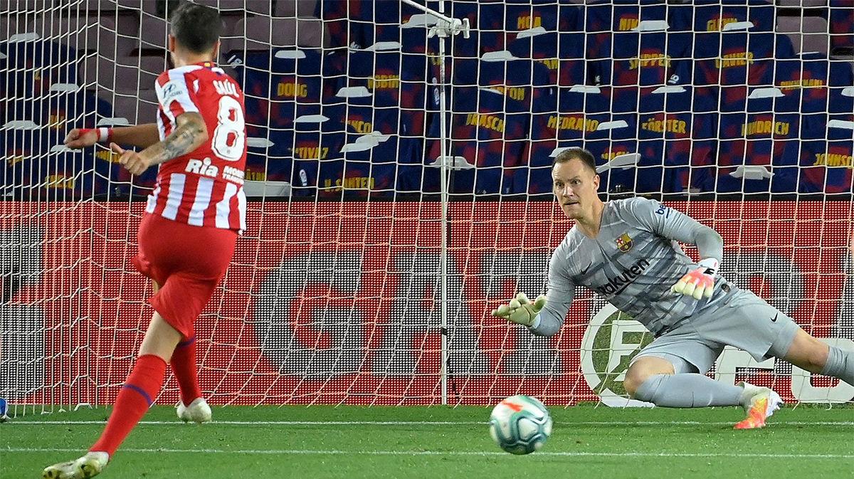Así narró la radio el gol de Saúl desde el punto de penalti