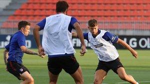 El Atlético entrenará esta tarde en Lisboa