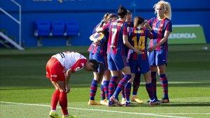 El Barça ganaba al descanso por 8-0 tras una colosal primera parte