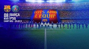 El Barça recibe al PSG en el Camp Nou