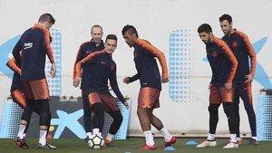 El Barcelona ya piensa en el partido ante el Chelsea