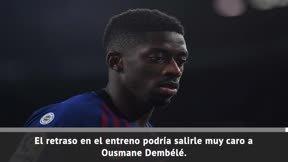 El Barcelona sanciona a Dembélé