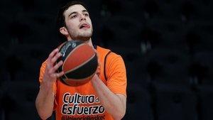 El base del Valencia Basket, Sergi García