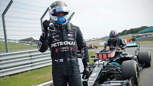Bottas tras la sesión de qualy en Silverstone.