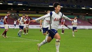 Un cabezazo de Son dio los tres puntos al Tottenham ante el Burnley