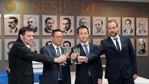 Chen Yansheng ha presidido el brindis navideño del Espanyol