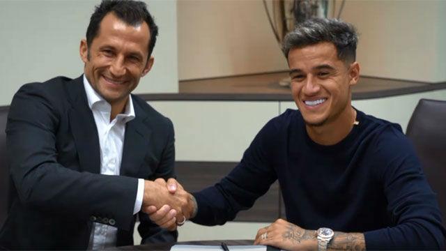 Coutinho firma con el Bayern y se queda con el 10