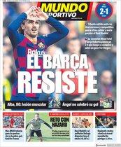 Esta es la portada de Mundo Deportivo del domingo 16 de febrero