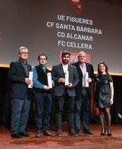 UE Figueres, CF Santa Bàrbara,CD Alcanar y FC CelleraLos clubs de fútbol de Tercera Divisióncomo la UE Figueres y que fue refundado en 2007; otro de Tercera Catalana, como el CF Santa Bárbara, el CD Alcanar y el FC Cellera que militan en cuarta c
