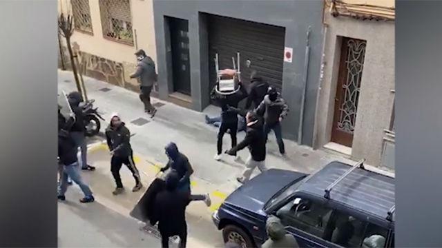 Incidentes en Cornellà antes del Espanyol-Atheltic