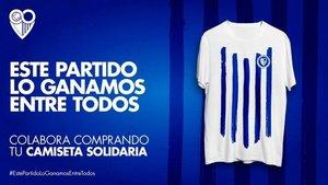 Iniciativa solidaria del Málaga para recaudar fondos ante el coronavirus