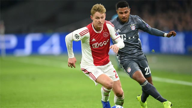 De Jong to remain at Ajax until end of season