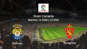 Jornada 23 de la Segunda División: previa del encuentro Las Palmas - Real Zaragoza