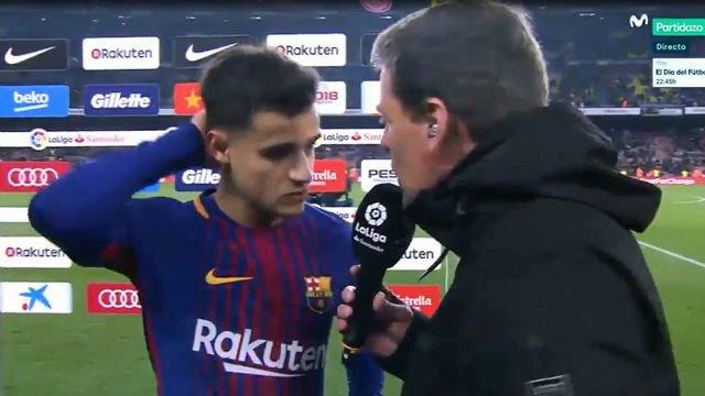 LALIGA | Coutinho habló tras estrenarse como goleador en liga como el Barça