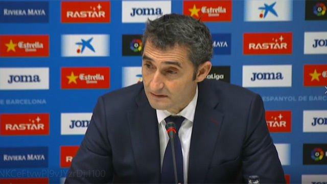 LALIGA | Espanyol-Barça (1-1) | Valverde: El gesto de Piqué lo enmarco dentro de la rivalidad