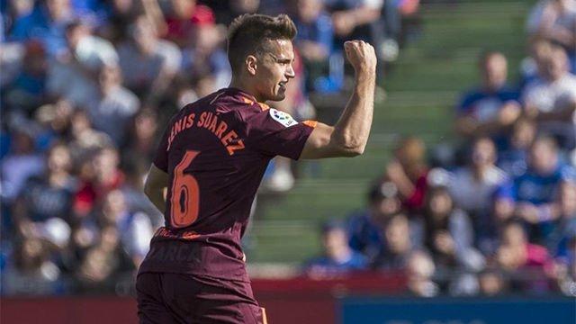 LALIGA   Getafe-Barça (1-2): Denis Suárez empató el partido con un gran gol