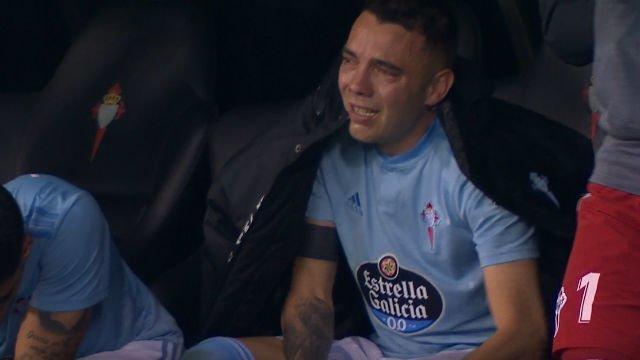 Las lágrimas de Aspas al terminar la remontada
