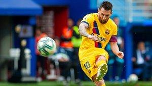 Leo Messi, en una acción de este sábado ante el Eibar en Ipurua (0-3)