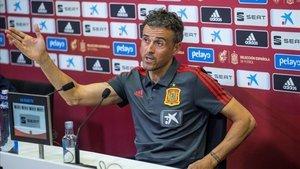 Luis Enrique habla en Las Rozas
