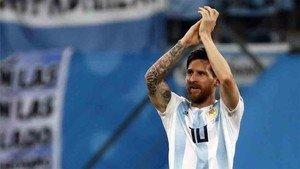 Messi agradeció el apoyo de la afición argentina