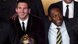 Messi y Pelé, dos grandes del fútbol